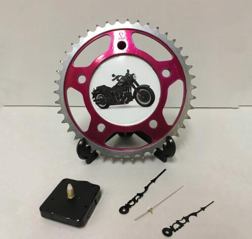 Sprocket Clock - Black Motorcycle | TPC