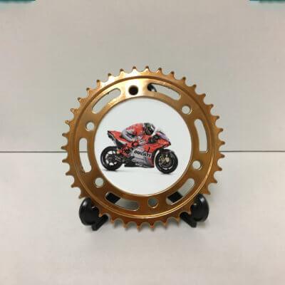 Motorcycle Gold Sprocket
