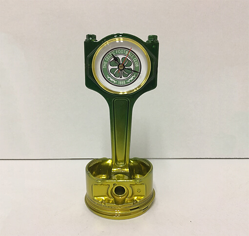 Celtic Piston Clock Green to Gold | TPC