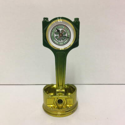 Celtic Piston Clock Gold & Green | TPC