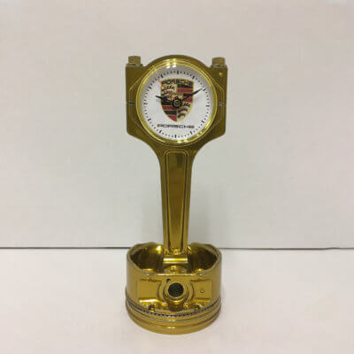Porsche Piston Clock Gold | TPC