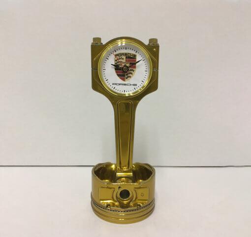 Porsche Piston Clock Gold | TPC