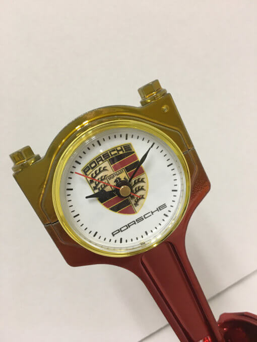 Porsche Piston Clock Red & Gold | TPC