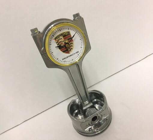 Porsche Piston Clock Silver | TPC
