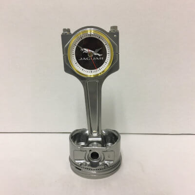 Jaguar Piston Clock Silver | TPC