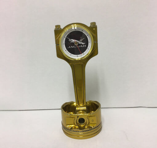 Jaguar Piston Clock Gold | TPC