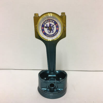 Chelsea Piston Clock Blue To Gold | TPC