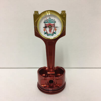 Liverpool Piston Clock Red To Gold | TPC