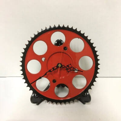 Sprocket Clock - Red and Black | TPC