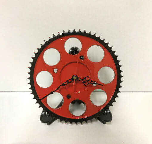 Sprocket Clock - Red and Black | TPC