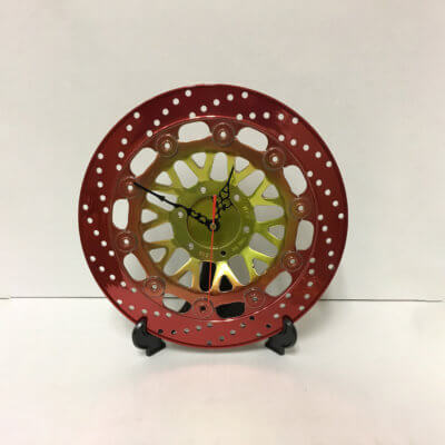 Sprocket Clock - Red and Gold | TPC
