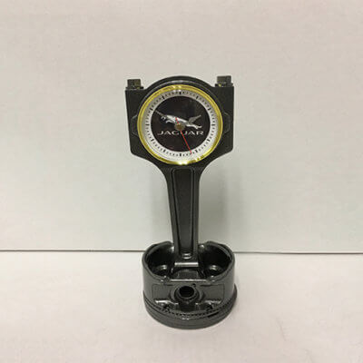 Jaguar Piston Clock Black | TPC