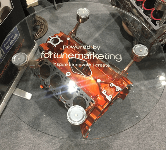fortune marketing glass table