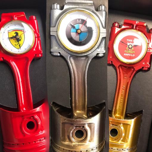 Custom Piston Clocks